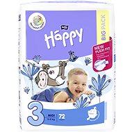 BELLA Baby HAPPY veľ. 3 Midi (72 ks) - Detské plienky