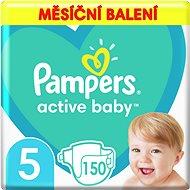 PAMPERS Active Baby-Dry vel.5 Junior (11-18 kg) 150 ks - měsíční balení - Detské plienky