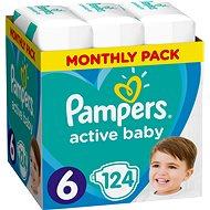 PAMPERS Active Baby vel. 6 Extra Large (124 ks) - měsíční balení - Detské plienky