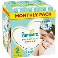 PAMPERS Premium Care veľ. 2 Mini (240 ks) – mesačné balenie - Detské plienky