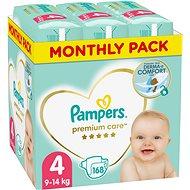 PAMPERS Premium Care veľ. 4 Maxi (168 ks) – mesačné balenie - Detské plienky
