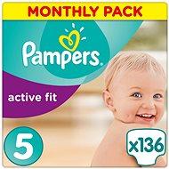 PAMPERS Active Fit veľ. 5 (136 ks) – mesačné balenie