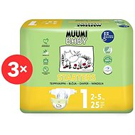 MUUMI BABY Newborn veľkosť 1, mesačné balenie EKO plen (75 ks) - Eko plienky