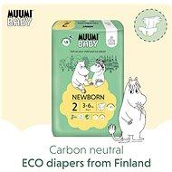 MUUMI BABY Mini veľkosť 2, mesačné balenie EKO plen (174 ks) - Detské plienky