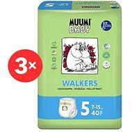 MUUMI BABY Walkers Maxi+ veľ. 5 –  mesačné balenie EKO plienkových nohavičiek (120 ks) - Detské plienkové nohavičky
