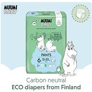 MUUMI BABY Walkers Junior veľ. 6 –  mesačné balenie EKO plienkových nohavičiek (108 ks) - Detské plienkové nohavičky