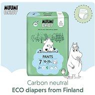 MUUMI BABY Walkers Extra Large veľ. 7 –  mesačné balenie EKO plienkových nohavičiek (102 ks) - Detské plienkové nohavičky