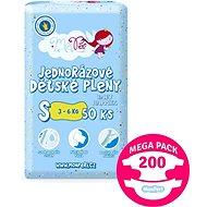 MonPeri Klasik Mega Pack veľ. S (200 ks) - Detské plienky