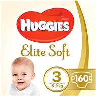 HUGGIES Elite Soft veľ. 3 (160 ks) - Detské plienky
