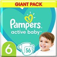 PAMPERS Active Baby veľ. 6 (56 ks), 13 – 18kg