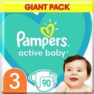 PAMPERS Active Baby veľ. 3 (90 ks) 6 – 10kg