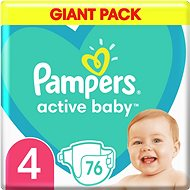 PAMPERS Active Baby veľ. 4 (76 ks) 9 – 14kg