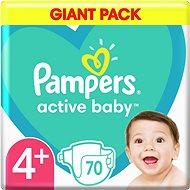 PAMPERS Active Baby veľ. 4+ (70 ks) 10 – 15kg