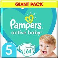 PAMPERS Active Baby veľ. 5 (64 ks) 11 – 16kg