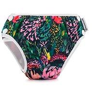 Bamboolik Plienkové plavky veľ. S Kvety - Plienkové plavky