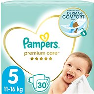 PAMPERS Premium Care, veľ. 5 (30 ks) - Detské plienky