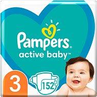 PAMPERS Active Baby veľ.  3 (152 ks) – mesačné balenie - Detské plienky
