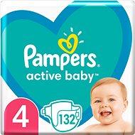 PAMPERS Active Baby veľ. 4 (132 ks) - balenie na 1 mesiac - Detské plienky
