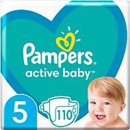 PAMPERS Active Baby veľ. 5 (110 ks) - mesačné balenie - Detské plienky