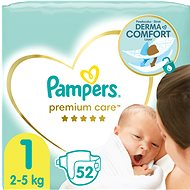 PAMPERS Premium Care veľ.  1 (52 ks) - Detské plienky