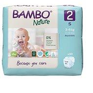 BAMBO NATURE 2 3 - 6 kg, 30 ks - Detské plienky