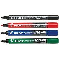 PILOT Permanent Marker 100 1 mm súprava 4 farieb - Popisovač