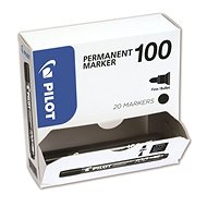 PILOT Permanent Marker 100 čierny, multipack 20 ks - Popisovač