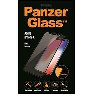 PanzerGlass Premium Privacy pre Apple iPhone X čierne - Ochranné sklo