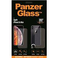 PanzerGlass Premium Bundle na Apple iPhone XS Max čierne + puzdro - Ochranné sklo