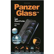 PanzerGlass Edge-to-Edge Antibacterial pre Apple iPhone 12 Pro Max čierne s Anti-Glare vrstvou - Ochranné sklo