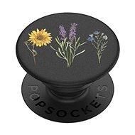 PopSockets PopGrip Gen.2, Vintage Garden Black, kvety na čiernom podklade