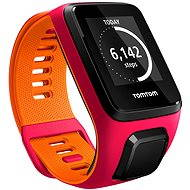 TomTom Runner 3 Cardio (S) ružovo-oranžový - Športtester