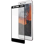 CELLY Full Glass pre Nokia 3.1/Nokia 3 (2018) čierne - Ochranné sklo