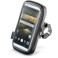 """Interphone SMART pre telefóny do veľkosti 6.5"""", úchyt na riadidlá, čierny - Puzdro na mobil"""