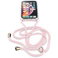 Cellularline Neck-Case s růžovou šňůrkou na krk pro Apple iPhone X/XS
