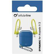Cellularline Dynamic pre Apple AirPods 1 & 2 s nadstavcami za ucho modré - Puzdro