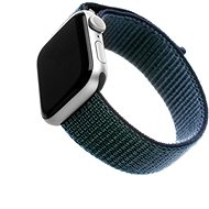 FIXED Nylon Strap pre Apple Watch 44 mm/ Watch 42 mm temne modrý
