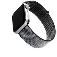FIXED Nylon Strap pre Apple Watch 44 mm/ Watch 42 mm sivý