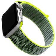 FIXED Nylon Strap pre Apple Watch 44 mm/ Watch 42 mm tmavo limetkový