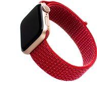 FIXED Nylon Strap pre Apple Watch 44 mm/ Watch 42 mm červený