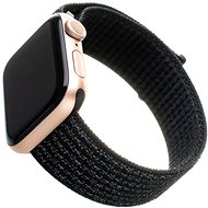 FIXED Nylon Strap pre Apple Watch 44 mm/ Watch 42 mm reflexne čierny