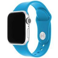 FIXED Silicone Strap SET pre Apple Watch 42/44/45 mm sýto modrý