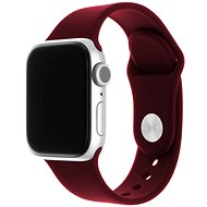 FIXED Silicone Strap SET for Apple Watch 38/40/41mm, Burgundy Red