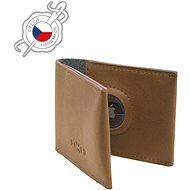 FIXED Wallet for AirTag z pravé hovězí kůže hnědá
