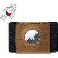 FIXED Tiny Wallet for AirTag z pravé hovězí kůže hnědá