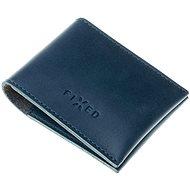 FIXED Wallet z pravé hovězí kůže modrá