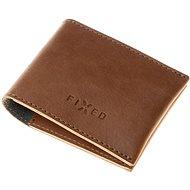 FIXED Wallet z pravé hovězí kůže hnědá