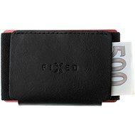 FIXED Tiny Wallet z pravé hovězí kůže černá