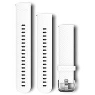 Garmin Quick Release 20 silikónový biely (strieborná pracka)