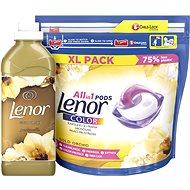 LENOR Gold Orchid kapsuly 44 ks + aviváž 750 ml (25 praní) - Sada drogérie
